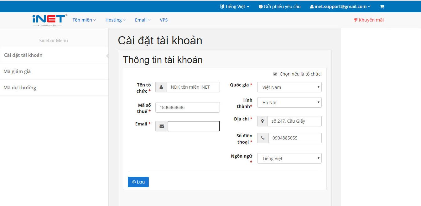 cấu hình bản ghi cho tên miền để sử dụng email Zimbra